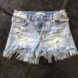 Zara Jean Shorts with Butterfly Patch